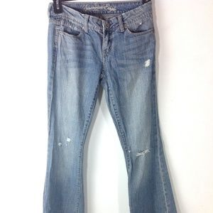 American Eagle Women Jeans Size 02 Long Distressed